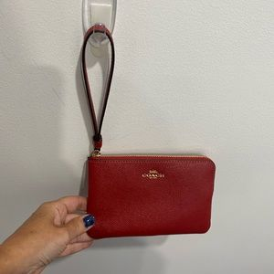 Coach wristlet - red - brand new - authentic